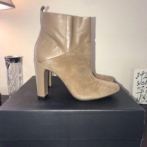 Rachel Zoe Elizabeth Sepia Kid Suede Boots 9 New